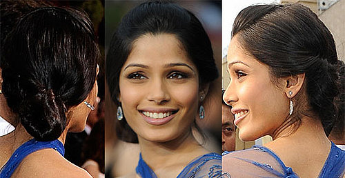 Freida Pinto Oscars Hair Tutorial