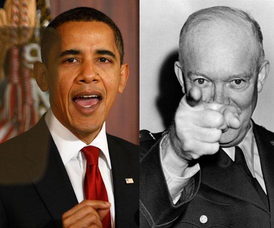 10. Obama/ Eisenhower (Tie)
