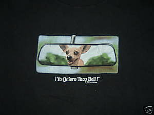 VINTAGE ! YO QUIERO TACO BELL T-SHIRT SIZE XL - eBay (item 280374987766 end time Jul-27-09 18:16:34 PDT)