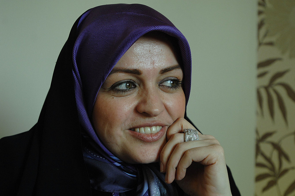 Zahra Eshraghi, the Iranian women's rights advocate and granddaughter of Ayatollah Ruhollah Khomeini, poses for a portrait.