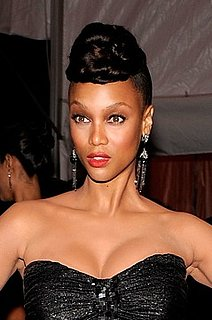 Tyra Banks's Hair and Makeup at the Met's Costume Institute Gala