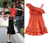 Photo of Suri Cruise Wearing a Ruffle Dress From Gap at The Grove