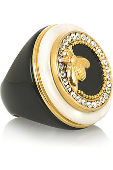 RingsEclectic  Bee-embellished ring  NET-A-PORTER.COM
