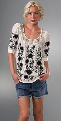 Juicy Couture Hippie Scoop Neck Blouse