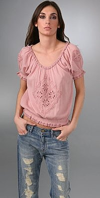 Joie Blanca Smocked Top