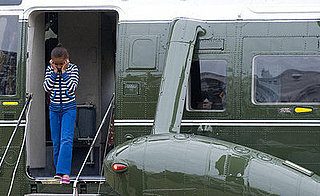 Photos of Sasha Obama Returning From Camp David