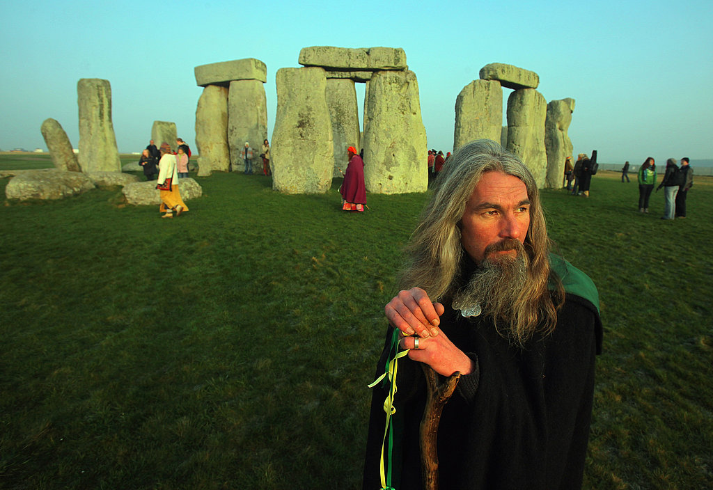 Several hundred druids and pagans were granted special access to the ancient monument to mark the day.