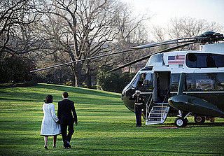 Barack and Michelle Obama Leave For Europe