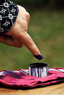 Indonesia Dyes Fingers Blue After Voting