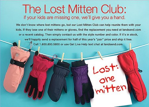 Lil Tip:  Lands' End Lost Mitten Club