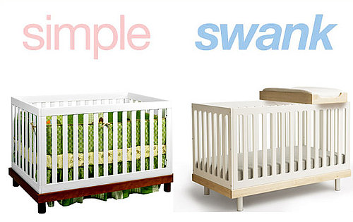 Inexpensive and Expensive Versions of the Modern Baby Crib