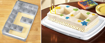 Adjustable Alphabet/Number Cake Pan For Kids' Birthday Parties