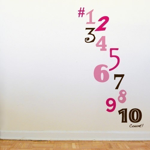 Count Wall Decals