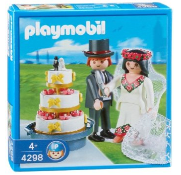 Playmobil Bridal Couple With Wedding Cake