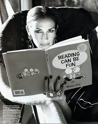 Mommy Julia Roberts Shows Reading Can Be Fun in Allure