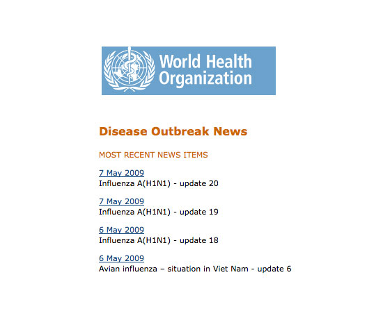 Follow the World Health Organization