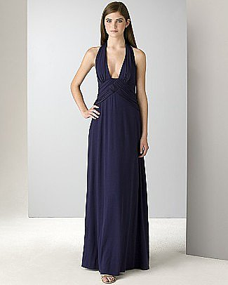 Laundry by Shelli Segal Halter Gown with Trapunto Inset - Long - Bloomingdales.com