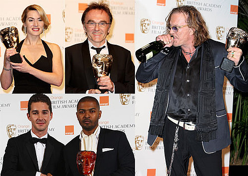 Full List Of Winners and Photos From 2009 BAFTA Awards Featuring Kate Winslet, Dev Patel, Mickey Rourke, Penelope Cruz, and more