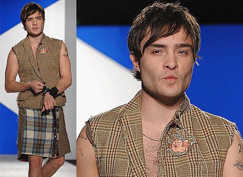 Photos Of Ed Westwick Wearing A Kilt At A Charity Event In New York