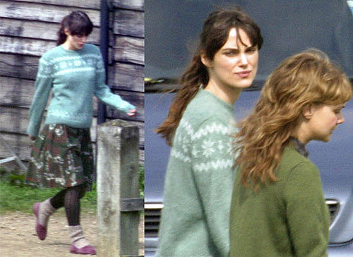 Photos of Keira Knightley Filming Never Let Me Go