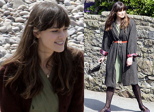Photos of Keira Knightley Filming Never Let Me Go on Beach Near Bristol
