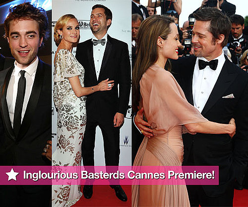 Photos From Inglourious Basterds Cannes Premiere With Brad Pitt, Angelina Jolie, Robert Pattinson, Joshua Jackson, Diane Kruger