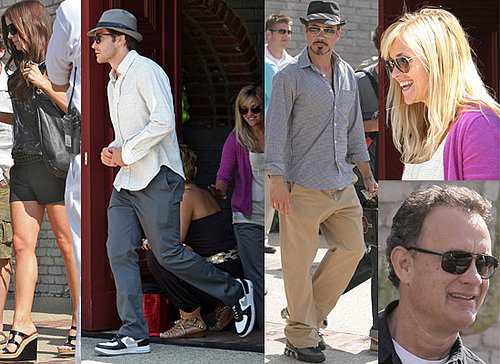 Photos of Jake Gyllenhaal, Reese Witherspoon, Tom Hanks, Robert Downey Jr, Kate Beckinsale Guy Ritchie. Memorial Day Beach Party