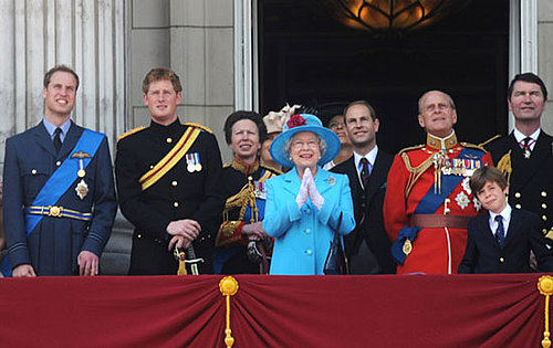 Photos of Prince Harry, Prince William, the Queen and the Royal Family at Trooping the Colour 2009
