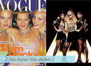 Models from 1990s, Kate Moss, Helena Christensen, Carla Bruni