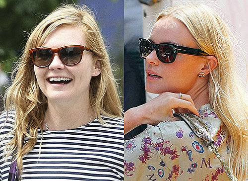 Sunglasses in style of Kate Bosworth, Kirsten Dunst Round Face
