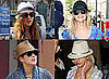 Lindsay Lohan, Britney Spears, Reese Witherspoon and Marion Cottilard in Fedoras