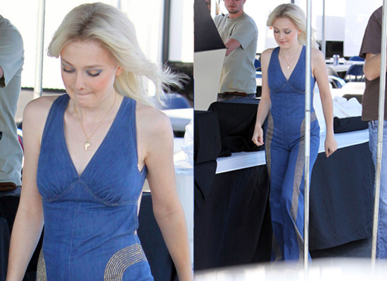 Photos of Dakota Fanning on The Runaways Set
