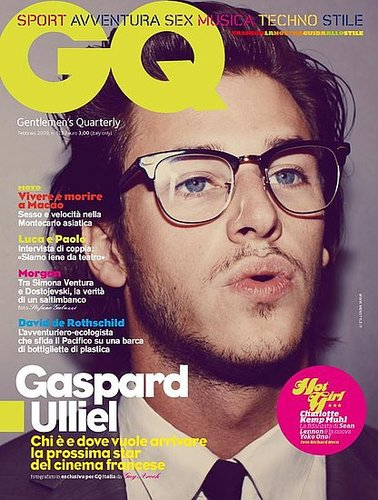GQ Italy February 2009: Gaspard Ulliel by Guy Aroch