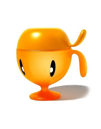 Alessi Rudi - Cup with Lid - Orange