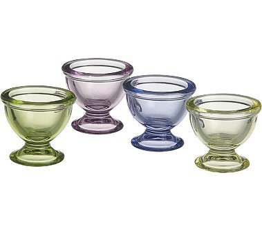 Crate and Barrel - Glass Egg Cups shopping at Crate and Barrel