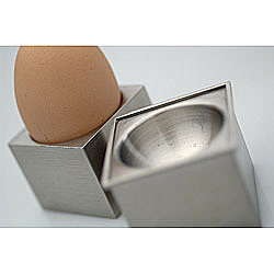 Kubic 4-piece Egg Cup and Spoon Set from Overstock.com