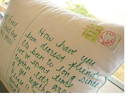 Personalized Postcard Pillow