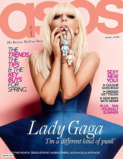 Lady Gaga does Asos april 2009 magazine cover