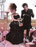 Tim Burton and Helena Bonham Carter for Vogue UK