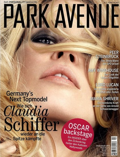 Claudia Schiffer for Park Avenue feb 08