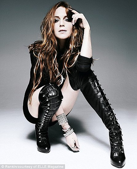 Lindsay Lohan does Elle UK-sept 09