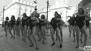 100 Women Dance to Beyonce's Single Ladies in Piccadilly Circus