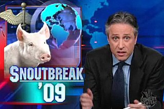 Jon Stewart Takes on Swine Flu News Coverage