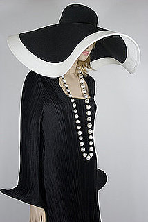Wide-Brim Black and White Hat