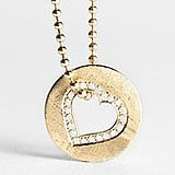 "Fab Hearts You: Win a Love Rocks NY Gold and Diamond ""Open Heart"" Necklace"