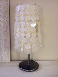 If you'd like something a little more refined, try this paper capiz shell lamp, from Craft Nest.