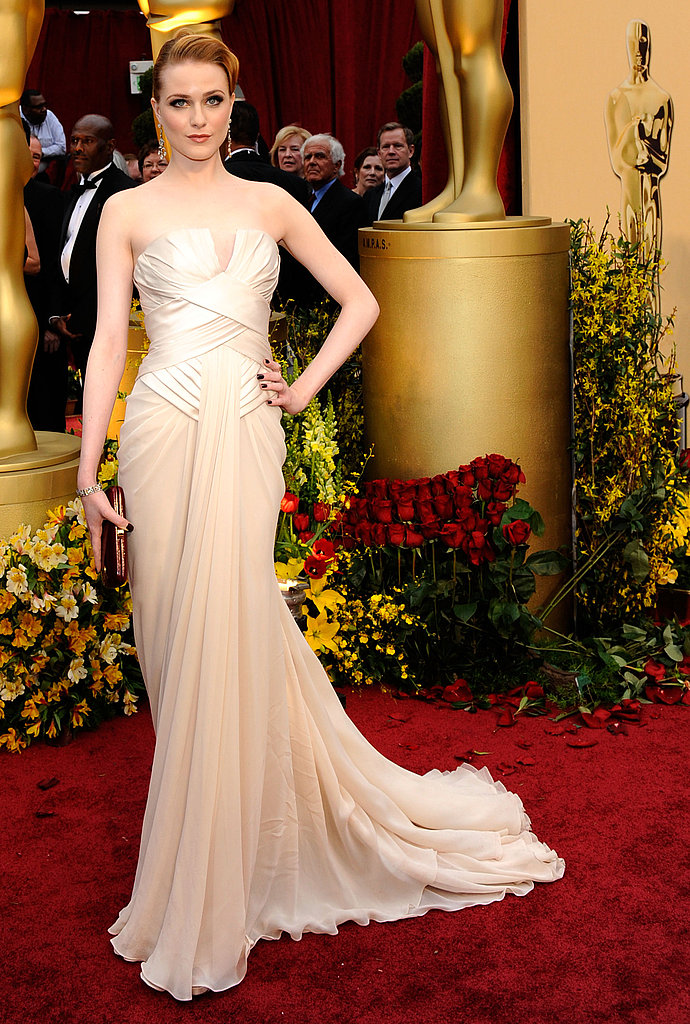 Evan Rachel Wood looks oh-so Art Deco in her Elie Saab number.