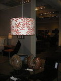 Another block-printed linen shade, the Smokebush Pendant ($349-$449) by Galbraith & Paul is sophisticated but a little retro.