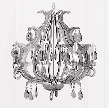 Add some girly glam to your casa with the Brocade Laser Cut Chandelier ($899).