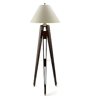 Desire/Acquire: Wooden Tripod Floor Lamp